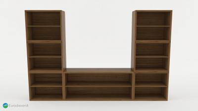 Knižnica z masívneho dubového dreva od spoločnosti Eurodreveník.