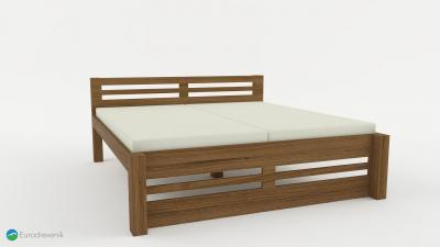Masívna dubová posteľ od spoločnosti Eurodreveník