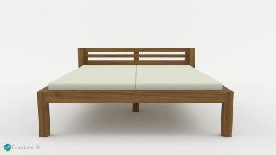 Masívna posteľ od spoločnosti Eurodreveník