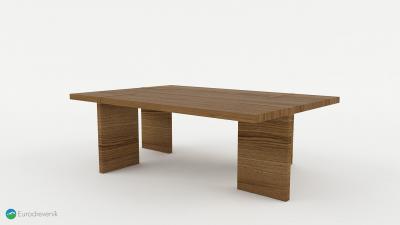 Masívny dubový stôl od spoločnosti Eurodreveník